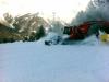 Gatto delle nevi al lavoro sulla pista