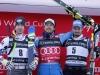 Ski World Cup 2016-2017. Hannes Reichelt (AUT) Kjetil Jansdrud (NOR) Dominik Paris (ITA) Santa Caterina Val Furva 26 dec. 2017 Photo  (Marco Trovati Pentaphoto-Mateimage)
