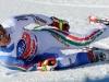 Bormio 29 dic. 2010--L'italiano Peter Fill stremato  al traguardo.(armando trovati)