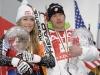 Ski World Cup 2007- 2008-- Manfred Moelgg Denise Karbon  (ITA). Bormio, Italia, 16 marzo, 2008