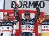 Ski world cup 2007/2008--Bode Miller (USA) vincitore della discesa Andreas Buder (AUT) Jan Hudec (CAN)  . Bormio, Italia, 29, Dicembre, 2007.