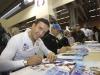 Christof Innerhofer, l'unico azzurro dominatore della Stelvio, a Skipass nello stand FISI (Credits: Pentaphoto/Dida)
